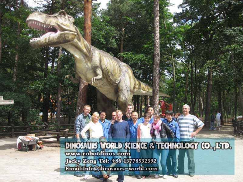Clients are very satisfied with our dinosaurs install working